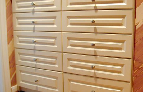 Raised Panel Drawers