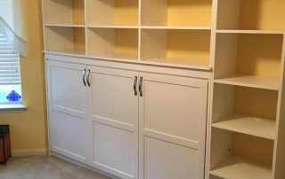 Murphy Bed - Brown - White Raised Panel1
