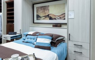 Showroom Murphy Bed - White Zebrine System Open1