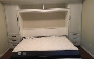 Wall Bed-White - Shaker Open