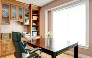 Custom Home Office with Bookcase
