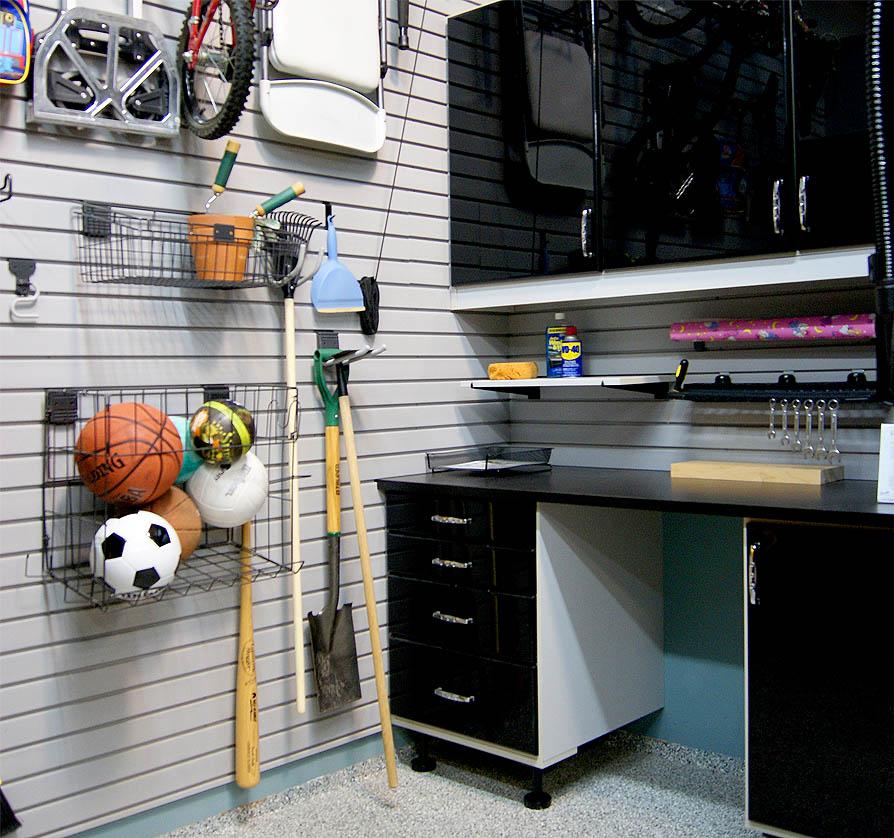 Garage Slatwall - SpaceManager Closets