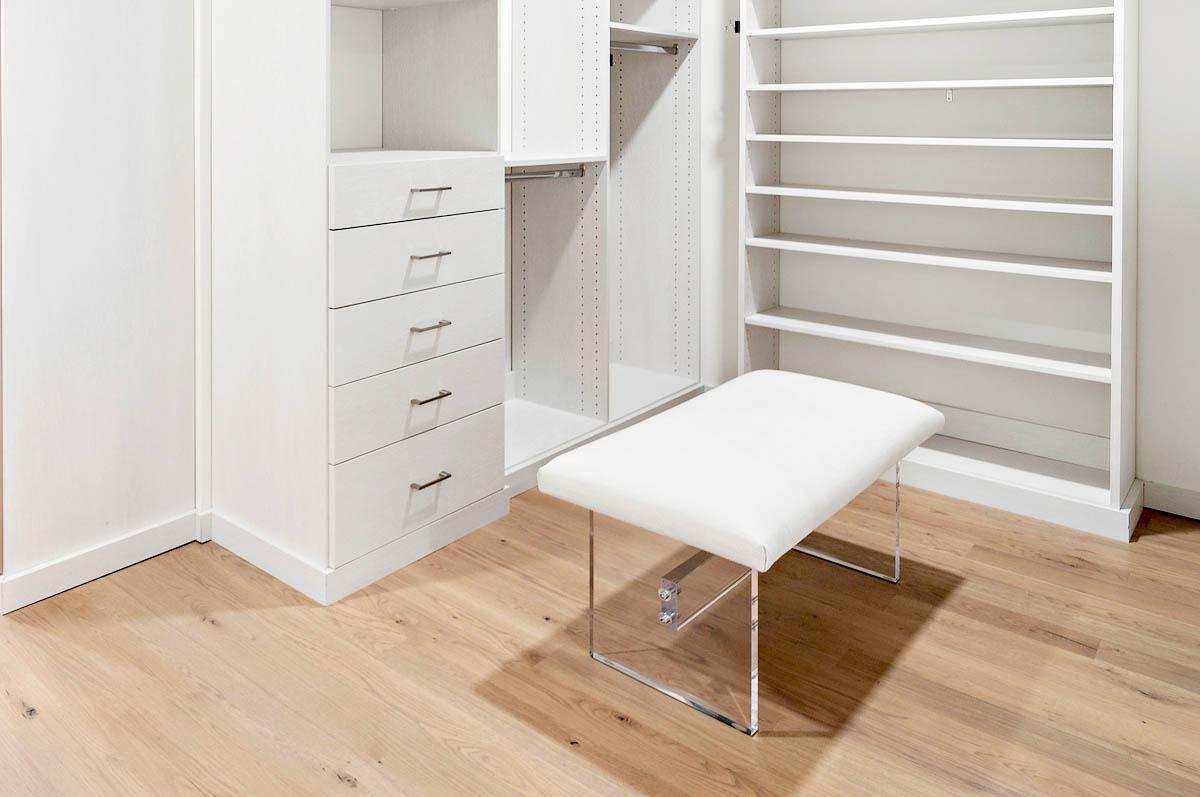 Custom Walk in Closet with bench