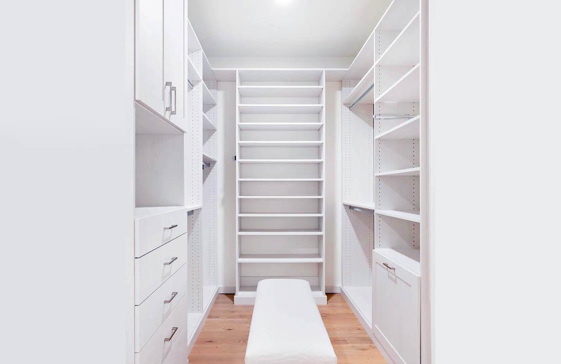 Master Custom Walk in Closet additional storage space
