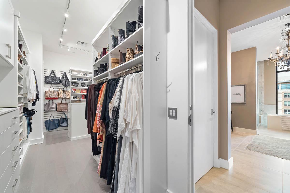 Wide angle master closet