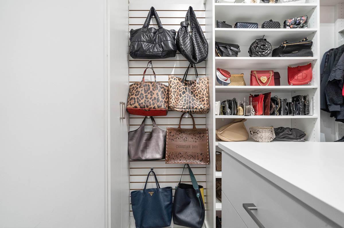 Slatwall with purses
