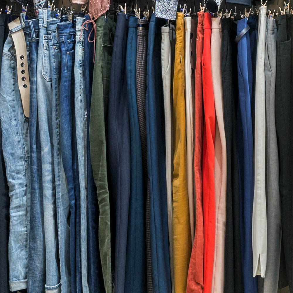 Reach in Closet high end pant hang area