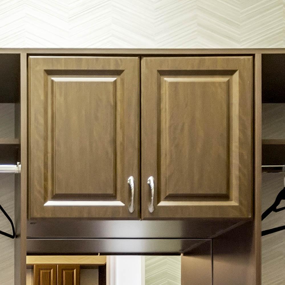 Reach in closet upper cabinets