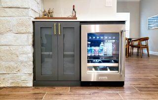 Custom Entertainment Center cabinets with fridge