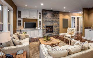 Custom Entertainment Center - living room area