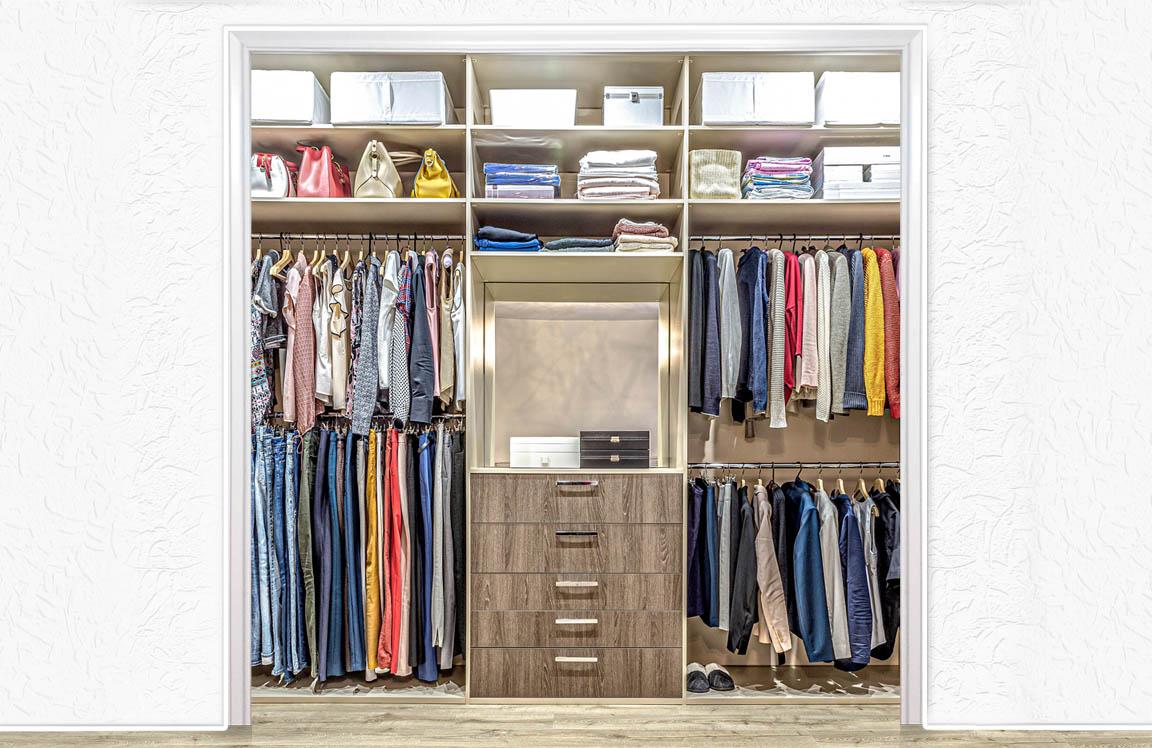 Custom reach in closet