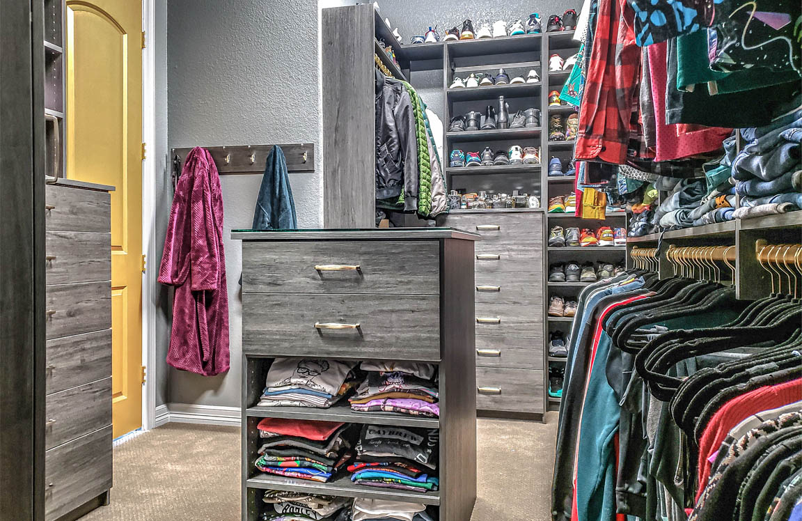 Custom Closet - master closet