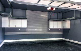Custom Garage with overhead racks